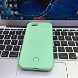 Eprosperous for iPhone 6S Case, LED Light Up Luminous Selfie Cell Phone Case Illuminated Back Cover for Apple iPhone 6S iPhone 6 with Logo (Green)