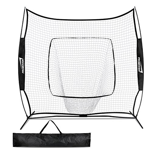 Promover Baseball and Softball Practice Net 7 x 7 for Practice Hitting, Pitching, Batting and Catching
