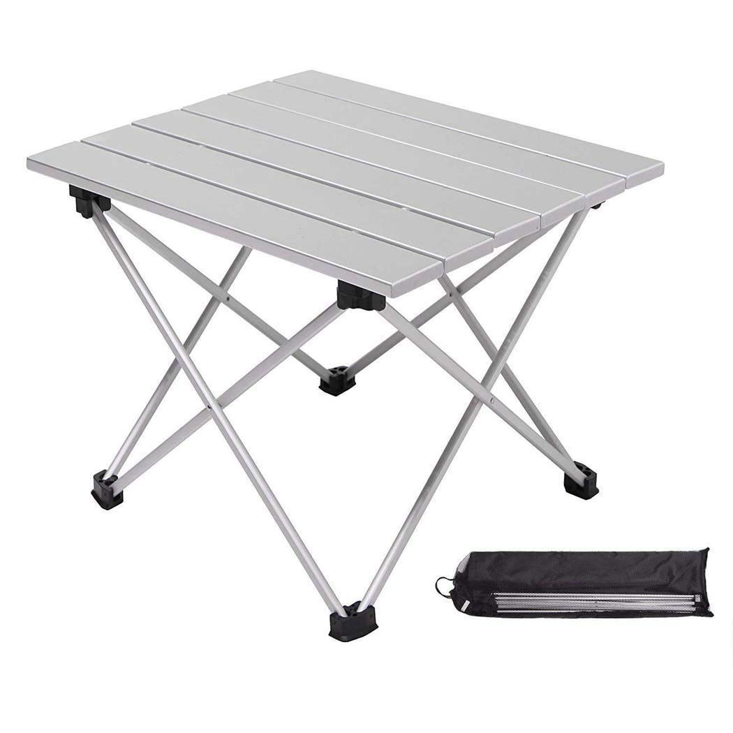 Pinsparkle Durable Portable Aluminum Alloy Folding Table Outdoor Barbecue Table Tables