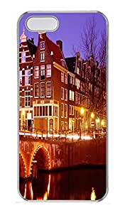 iPhone 5S Case Old City Lights PC Custom iPhone 5/5S Case Cover Transparent