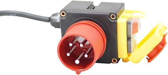 KEDU KOA7 400V Maschinenschalter mit 80cm Kabel,Phasenwender und NOTAUS Funktion