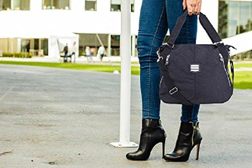 Suvelle Everyday-Borsa da viaggio, borsa a tracolla, borsa a spalla 1932 borsetta Blu (Blu denim)
