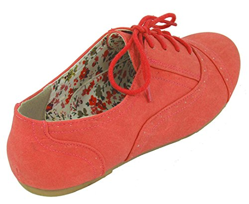 Nature Breeze Vrouwen Cambridge-03 Flats-shoes Coral