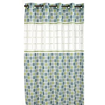 Hookless RBH14HH09 PEVA Shower Curtain - Mosiac Jade