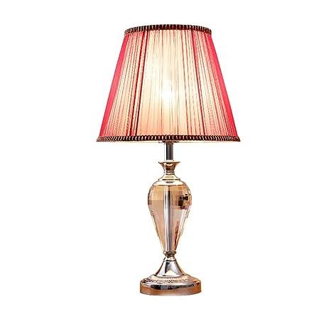 Lámpara de mesa de noche europea moderna lámpara de cabecera ...