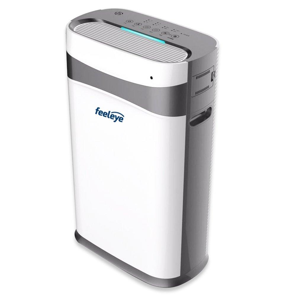空気清浄機 スーパー強大6段階吸着濾過分解内蔵ホコリフィルター 、PM2.5吸着 ホルムアルデヒド分解 マイナスイオン釈放 タイマー ニオイセンサー 睡眠モード付き WiFiリモートコントロール機能付 18-24畳空気清浄器 B07FM5D5FT ホワイト  ホワイト