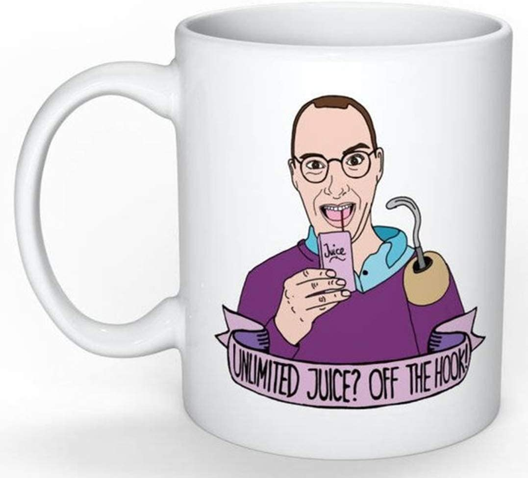 SkyLine902 - Buster Bluth Mug (Arrested Development) (Lucille George Michael Maeby Funke Tobias, 30 Rock, Parks and Rec, The Office, Seinfeld), 11oz Ceramic Coffee Novelty Mug/Cup