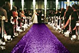 ShinyBeauty 3FTx15FT-Wedding Aisle Runner-Purple,Glitter Sequin Aisle Runner for Wedding Ceremony Party/Children Party Decoration
