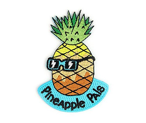 Pineapple Pals Summer Embroidered Sew or Iron-on Backing Patch