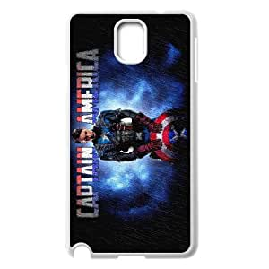 Generic hard plastic Captain America Cell Phone Case for Samsung Galaxy Note 3 White ABC83