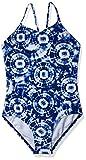 Kanu Surf Girls' Daisy Beach Sport 1-Piece Swimsuit, Groovy Denim Blue, 8