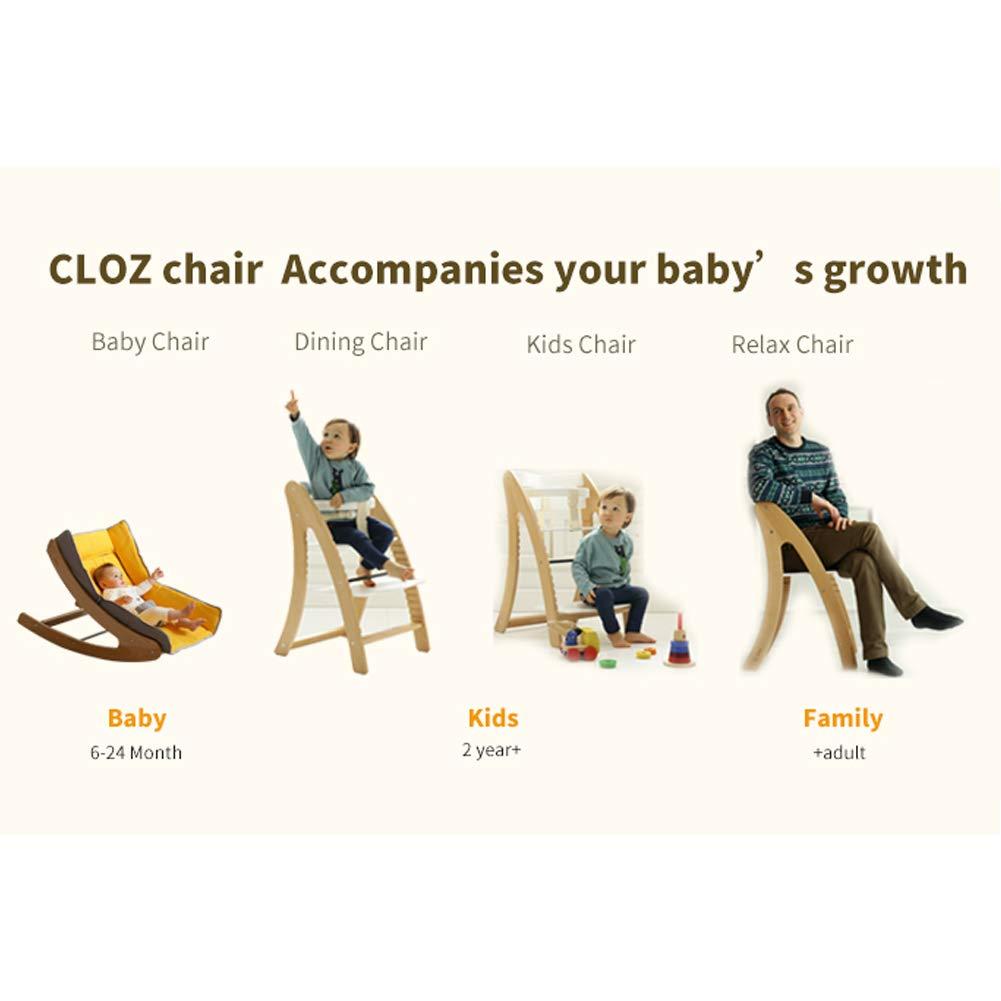 Amazon.com: CLOZ Wooden High Chair Baby Highchair Durable ...