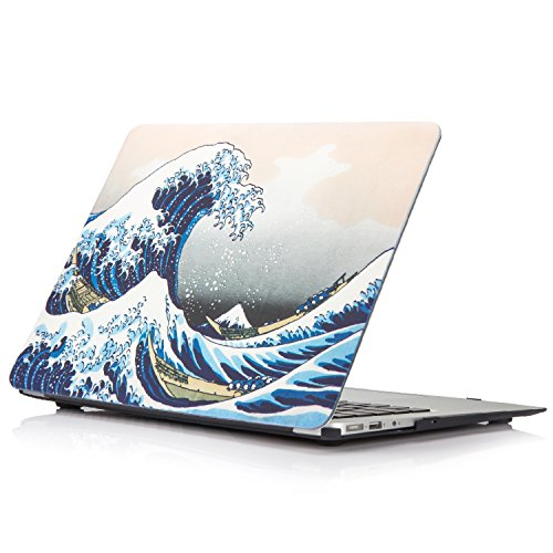 YMIX MacBook Pro 13 Retina Case (No CD-ROM) Model A1502/A1425, Matte Rubberized Cover Case Plastic Hard Protective Case for MacBook Pro 13 Inch with Retina Display 2012-2015 Version - Sea Wave