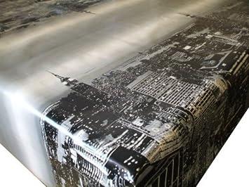New York Skyline Pvc Oilcloth Tablecloth 200 X 137cm Amazon Co Uk Kitchen Home