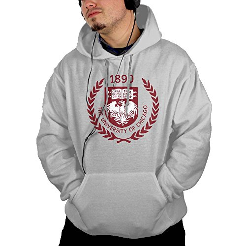 Price comparison product image QTHOO Men's Long Sleeve The University of Chicago Established 1890 Lightweight Hoodie with Pocket