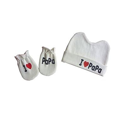 3179f251529 Upsmile Organic Cotton Baby Hat and Mittens Infant Gender Neutral Hospital  Hat Newborn Girl Boy Hat