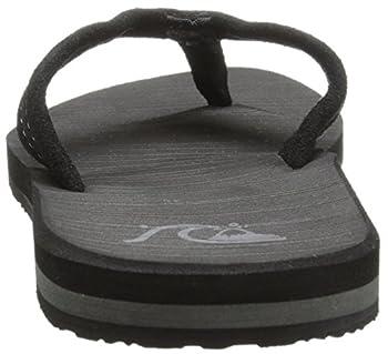 Quiksilver Men's Carver Suede 3-point Flip-flop, Solid Black, 14 M Us 1
