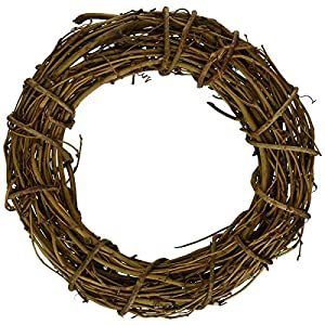 queenland Natural Grapevine Wreath Rustic Ring Wreath DIY Crafts Base for Christmas Wreath Door Garland Home Decoration Gift Hanging Decor (4/6/8/10/12/14/16 inches) 72