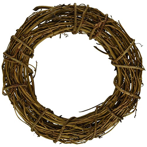 queenland Natural Grapevine Wreath Rustic Ring Wreath DIY Crafts Base for Christmas Wreath Door Garland Home Decoration Gift Hanging Decor 8 inches,Pack of 1