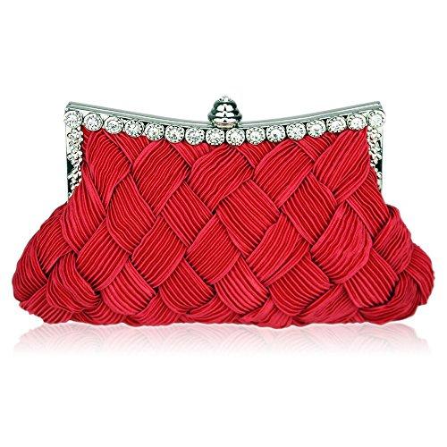 TrendStar - Cartera de mano para mujer rojo X - Red