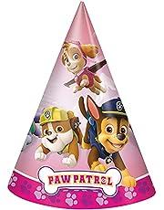 Unique 49061 Girl Paw Patrol Party Hats, 8 Count