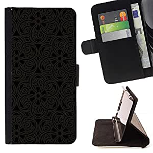 Momo Phone Case / Flip Funda de Cuero Case Cover - Patrón Oriental Encaje Talla Dise?o de Interiores Arte - Sony Xperia M2
