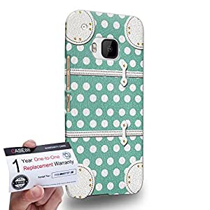 Case88 [HTC One M9] 3D impresa Carcasa/Funda dura para & Tarjeta de garantía - Art Fashion Aqua Dot Luggage