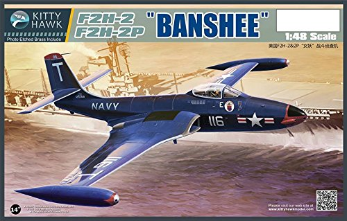 KTH80131 1:48 Kitty Hawk F2H-2 F2H-2P Banshee [MODEL BUILDING ()