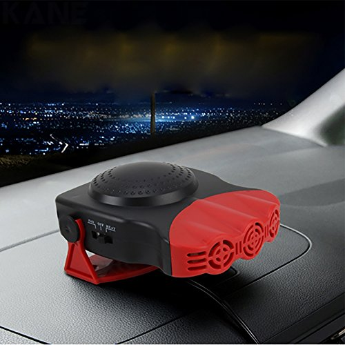 Car Fan Portable Heater,12V Heater Automobile Heater Warmer And Defroster For Easy Snow Removal Winter Auto Electronic Windscreen Heater Fan Defroster: Sports & Outdoors