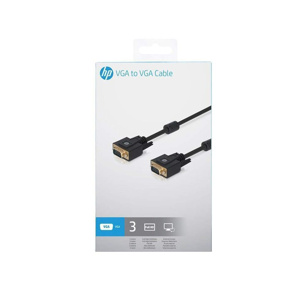 3M HDTVs and Displays Support 1080P Full HD for Projectors 10 feet HP VGA Cable - Male to Male Video Coaxial Monitor Cable with Ferrite Cores