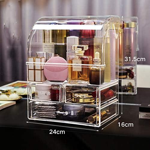 化粧品収納ボックス 透明な大容量の多層家庭用化粧品収納ボックス厚いアクリル素材防水性と防塵性無臭 QTKGG