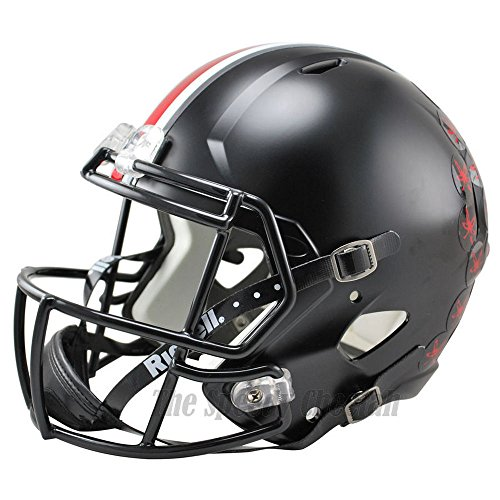 Ohio State Buckeyes Black Officially Licensed NCAA Speed Full Size Replica Football Helmet by Riddell
