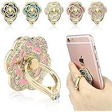Phone stand, ecvilla de lujo Rose Forma Universal Teléfono Soporte, Multi-Angle Portable Stand, 3d de 360rotación Anillo de aleación de aluminio Grip/Phone holderfor iPhone 5S 66S 7Plus Samsung, LG, HTC, Rosado