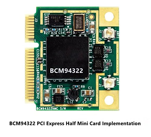 DW1510 AGN BCM94322 Half Dual-band N Pci-e Wirless WLAN Card 802.11a/g/n 2.4G & 5G for Laptops & Netbooks by Poject