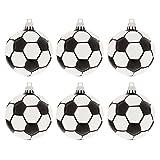 Matte Soccer Ball Ornaments Christmas Tree Decoration