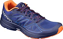 Salomon Men's Sonic Aero Running Shoes Surf The Web Blue Depths Flame 12.5