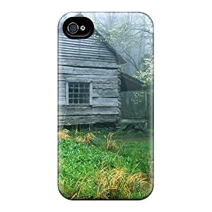 Quality JackieAchar Case Cover With Cabin In The Smokey Mountains Nice Appearance Compatible With Iphone 4/4s