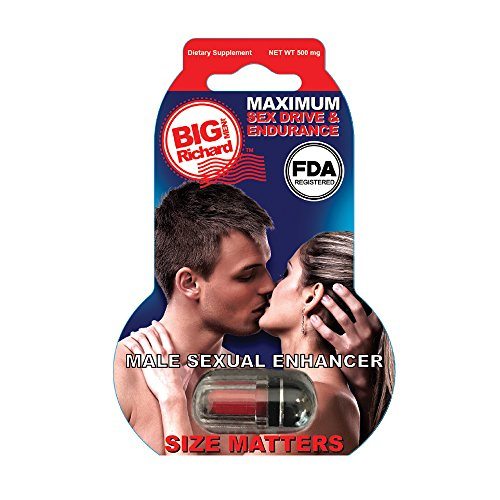 Big Richard - Male Sexual Enhancer Pill 3D (500 mg) - Maximum Sex Drive Endurance - Natural Herbal Formula (Horny Goat ()