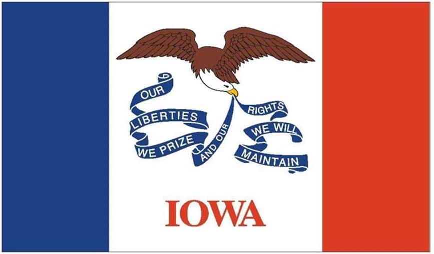 14Cm * 8.1Cm Accesorios Iowa Flag Car Sticker Reflective Creative Decal