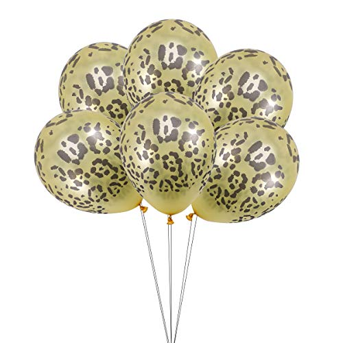 6pcs 12inch Creative Latex Balloons Leopard Print Pattern Balloons Home Decor for Party Birthday Festival (Yellow Leopard Print)