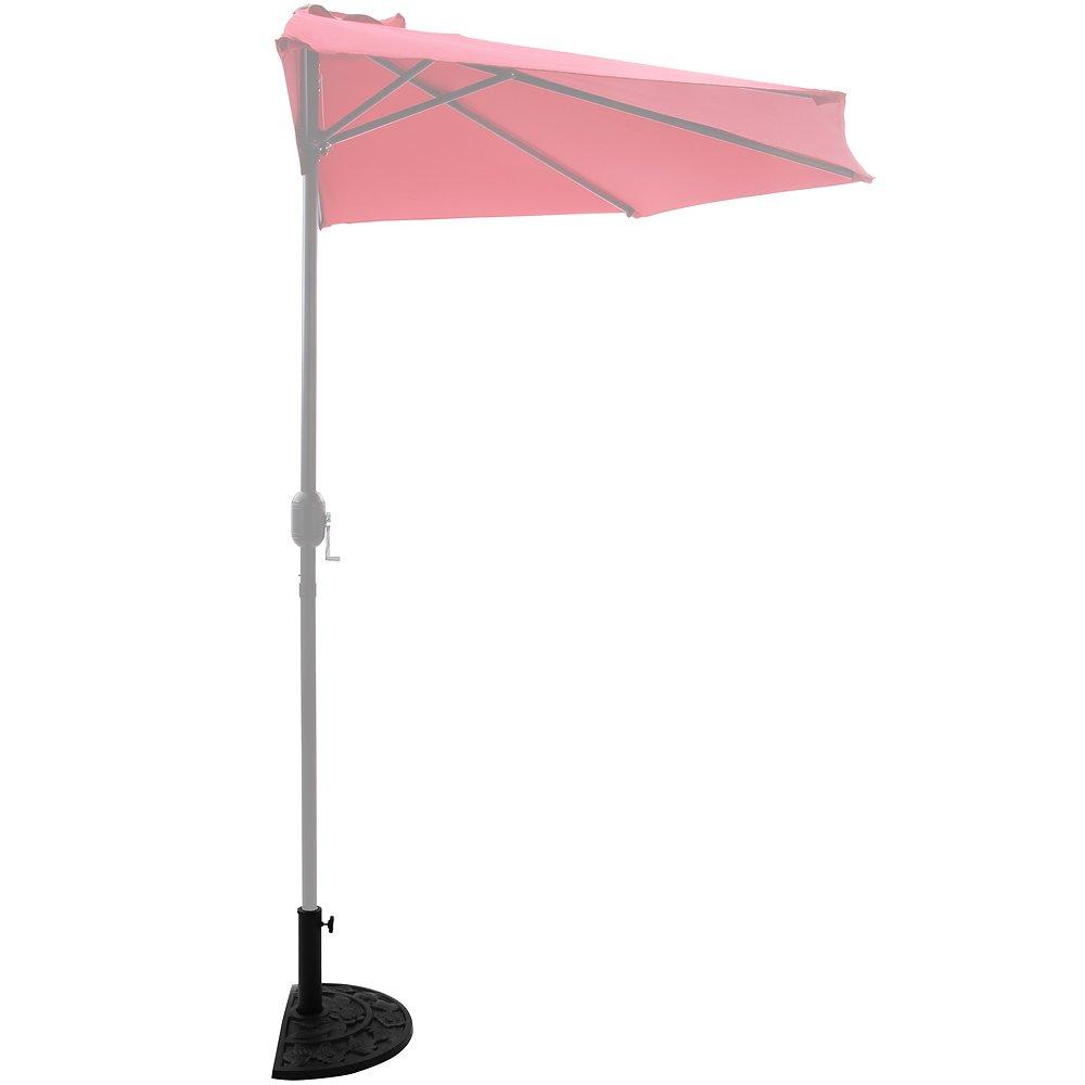 Deuba Base per ombrellone semicircolare 50x31x31cm 9 kg supporto ombrelloni a parete giardino balcone terrazza