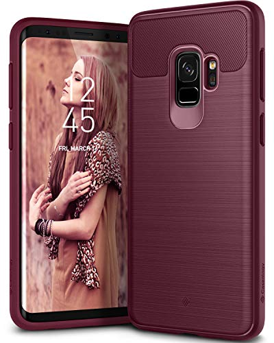 Caseology Vault for Galaxy S9 Case (2018) - Rugged Matte Finish - Burgundy