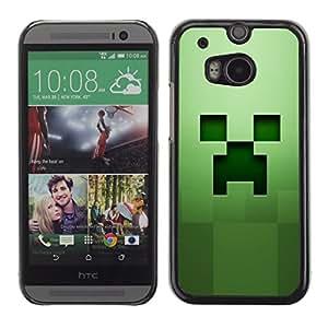 A-type Arte & diseño plástico duro Fundas Cover Cubre Hard Case Cover para HTC One M8 (Fluencia Verde)