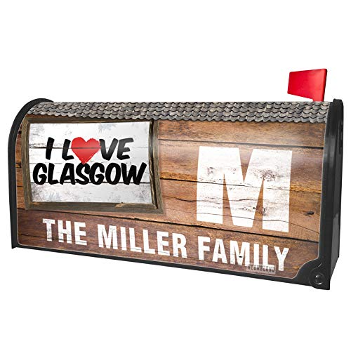 NEONBLOND Custom Mailbox Cover I Love Glasgow