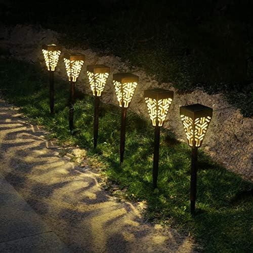 6Pcs Solar Pathway Lights Outdoor Waterproof Garden Lights Solar Landscape LED Lights for Garden,Lawn,Patio,Yard,Garden,Walkway Bronze,6 Pack