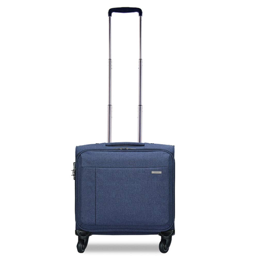 WJ スーツケース トロリーケース - ポリエステル/PC、TSA税関パスワードロック、コンピューターライナー付き、ファッションビジネス多機能ユニバーサルホイール防水オックスフォード布旅行搭乗荷物-46 * 23 * 39 cm /-/   B07MYR1PXR