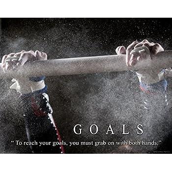 Gymnastics Motivational Poster Art Print Balance Beam Mat Lessons School Dance 11x14