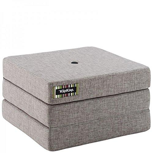 by Klipklap 3 fold single Multipuf - Multigrey with Grey Button