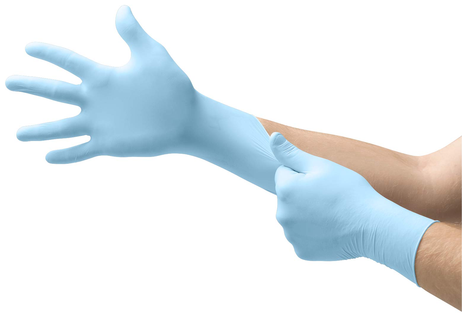 Microflex XCEED-XC310 Disposable Nitrile Gloves, Latex-Free, Powder-Free Glove for Cleaning, Mechanics, Automotive, Industrial, Food Handling or Medical applications, Blue , Size Medium, Case of 2500 Units by Mircoflex