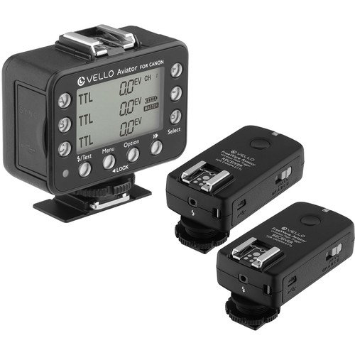 Vello FreeWave Aviator 1-Transceiver 2-Receiver Kit for Canon E-TTL / E-TTL II Flashes by Vello